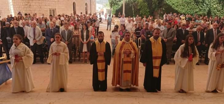 قداس احتفالي بكنيسة سيدة بشوات تكريما لوزيرة البلديات الاسترالية من أصول لبنانية