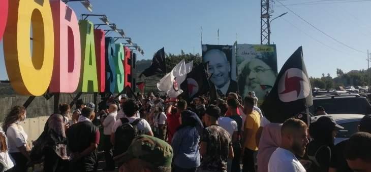 بدء مغادرة المتظاهرين منطقة العديسة وكفركلا بعد تدخل الجيش