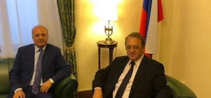 بوغدانوف: نأمل نجاح مساعي قيادة لبنان لتشكيل حكومة قادرة على ايجاد حلول فعالة