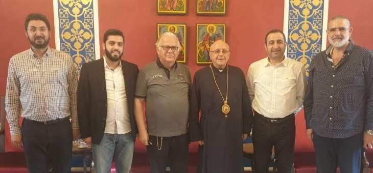 المطران درويش عرض الأوضاع مع الوزير السابق غسان عطالله