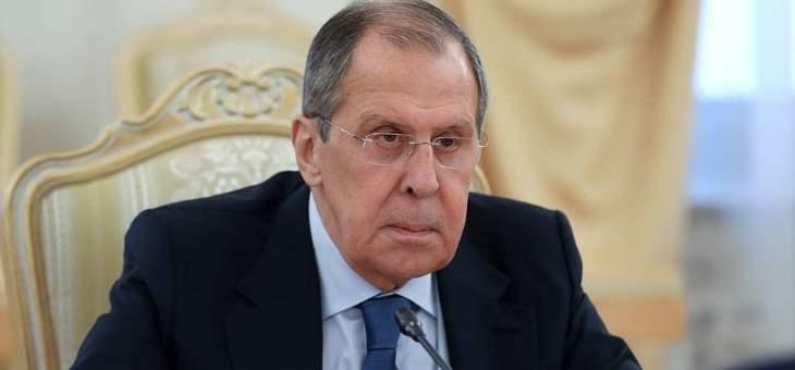 لافروف: تعميق التعاون الروسي- التركي لن يؤثر على حوارنا مع نيقوسيا