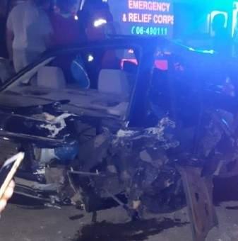 جريحان نتيجة حادث تصادم بين سيارتين في كفرشلان بالضنية
