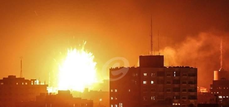 الطيران الإسرائيلي يشن سلسلة غارات عنيفة شمال قطاع غزة