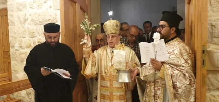 درويش كرّس كنيسة مار يوسف الشير بعد ترميمها: الكنيسة هي كل بيت وكل عائلة وكل مؤمن