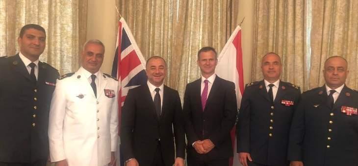 سفارة بريطانيا: زيارة بوصعب تعكس الأهمية التي نوليها للعلاقة مع لبنان