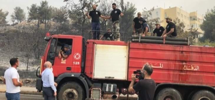 جريصاتي إطلع على أضرار الحرائق في الدامور والمشرف ومزرعة يشوع