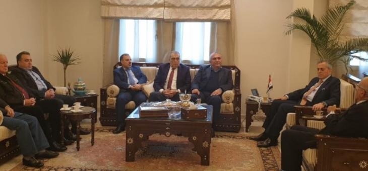 السفير السوري بحث مع وفد من القومي والبعث الأوضاع العامة بلبنان وسوريا