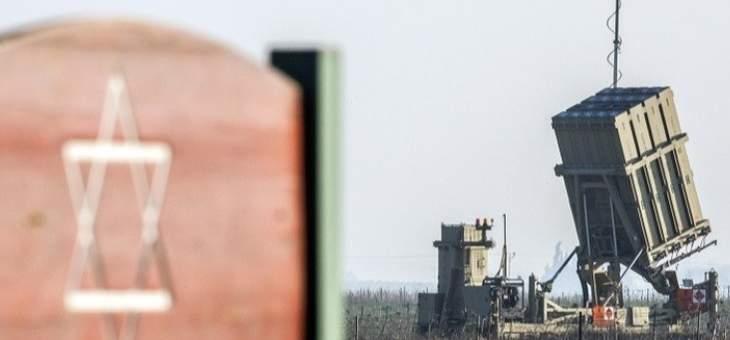 """""""الجيش الإسرائيلي"""" ينشر منظومة القبة الحديدية في جميع مدن الشمال"""