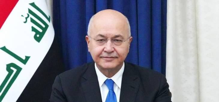 صالح: هناك قرار بإنهاء تواجد القوات الأميركية والأجنبية القتالية في العراق