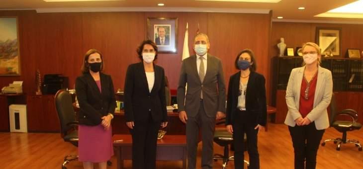 فؤاد أيوب التقى السفيرة الفرنسية في بيروت