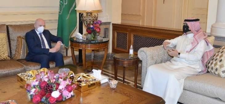 سفيرا السعودية وألمانيا في لبنان بحثا بمجمل التطورات الإقليمية والدولية