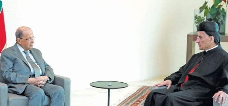 الرئيس عون يلتقي البطريرك الراعي في قصر بعبدا