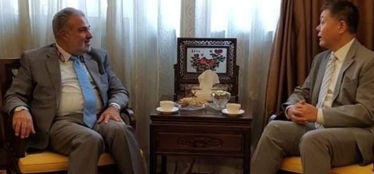 """عميد الخارجية في """"القومي"""" التقى سفير الصين في لبنان"""