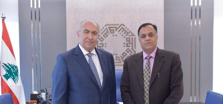 مخزومي استقبل سفير الهند الجديد: سنعمل على تعزيز العلاقات مع الهند