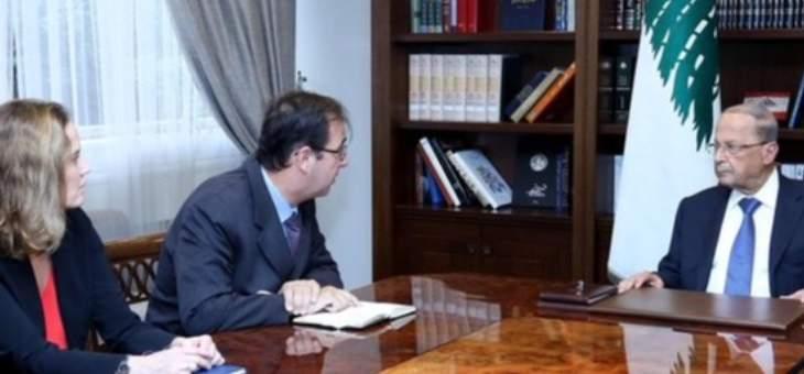 رئيس الجمهورية استقبل السفير الفرنسي وممثل الامين العام للامم المتحدة في لبنان