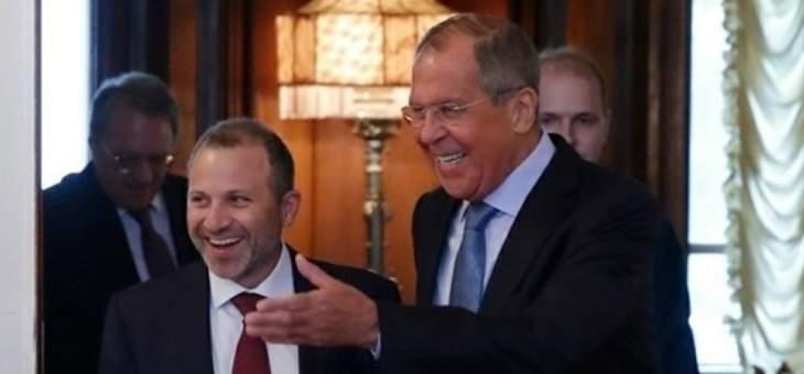 الروس لباسيل: مستاؤون من النميمة ونميّز بين الحقيقة والفبركات
