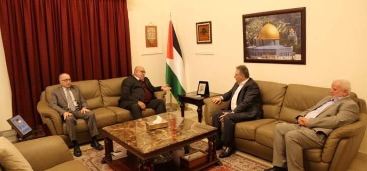 دبور بحث مع حمدان اخر التطورات التي تشهدها القضية الفلسطينية