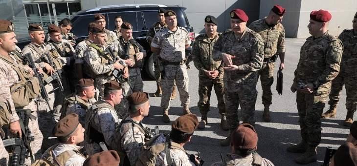 جوزاف عون: الجيش مسؤول عن أمن المتظاهرين وحرية التنقل مقدسة