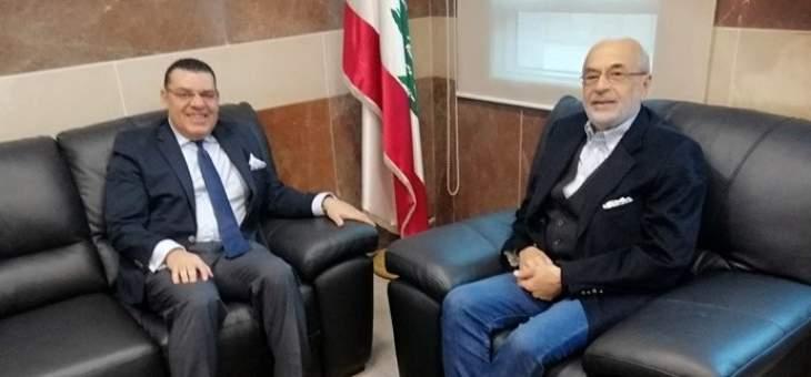شهيب التقى سفير مصر وتابع مع مجلس التعليم العالي تسوية مخالفات الجامعات