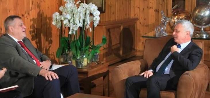 فرنجيه بحث مع منسق الأمم المتحدة في التطورات السياسية الراهنة