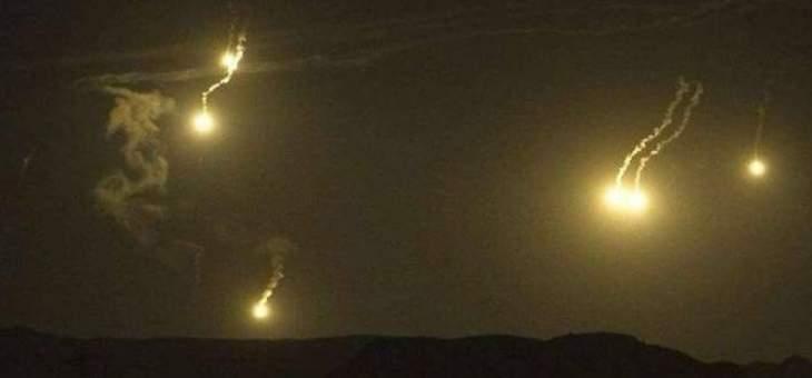 الجيش الاسرائيلي يطلق قنابل مضيئة فوق موقع الرادار
