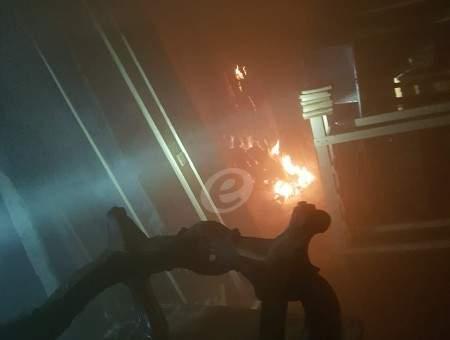 النشرة: إطفاء منشرة اشتعلت فيها النيران في صيدا