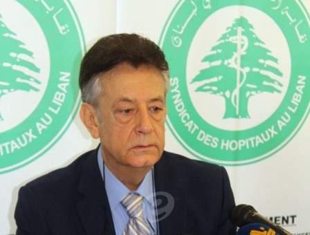 """سليمان هارون لـ""""النشرة"""": إستمرار الوضع على حاله سيؤدي إلى إقفال العديد من المستشفيات ومصرف لبنان توقف عن دعم أدوية التعقيم"""