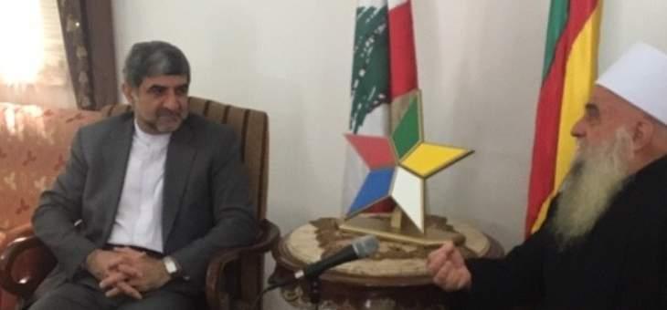 الغريب التقى فيروزنيا: سوريا انتصرت بارادة شعبها وجيشها على الارهاب