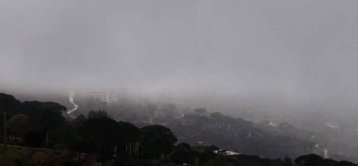 النشرة: طقس عاصف يسيطر على منطقة حاصبيا مع انخفاض بدرجات الحرارة