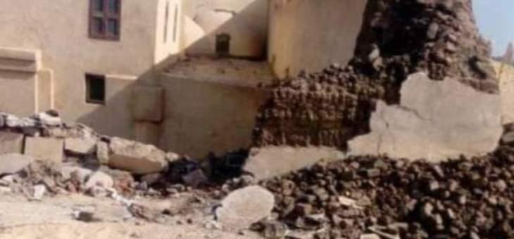مقتل 3 أشخاص بانهيار جدار كنيسة أثرية في مصر