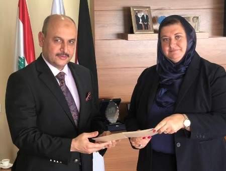 المولى استقبلت المستشار الثقافي الإقليمي في الدائرة الثقافية العراقية ببيروت