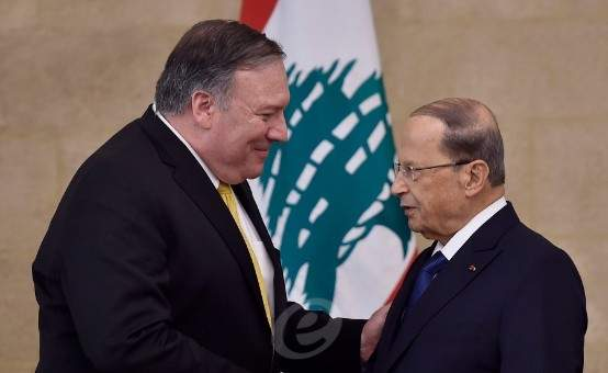 الرئيس عون تلقى اتصالا من بومبيو: لبنان مصمم على الحفاظ على حقوقه وسيادته برا وبحرا
