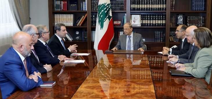 الرئيس عون: لن أترك صناعة لبنانية تعاني إلا وسأقدم لها الدعم اللازم