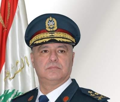قائد الجيش التقى النائب معوض وتناول البحث الأوضاع العامة في البلاد