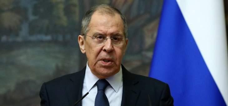لافروف: روسيا تدعم بدء مفاوضات دولية لمنع نشر أي نوع من الأسلحة بالفضاء