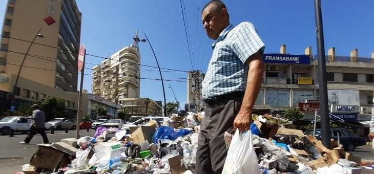 النشرة: بدء تكدس النفايات في شوارع صيدا