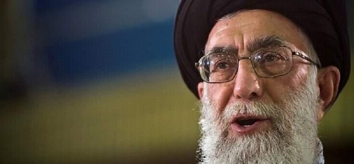 خامنئي: الاحتجاجات الأخيرة في إيران مسألة أمنية ولا يقوم بها الشعب