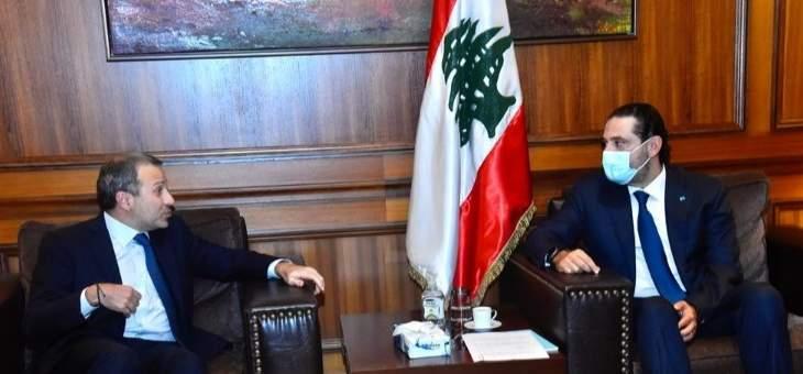 باسيل: لا مشكلة شخصية مع الحريري ونطالب بحكومة تكنوسياسية