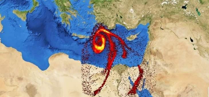 مصلحة الأرصاد الجوية نفت وجود سحابة من غاز ثاني أوكسيد الكبريت متجهة إلى لبنان