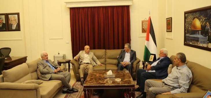 دبور التقى المدير العام للاونروا في لبنان ووفدًا من الجبهة الديمقراطية