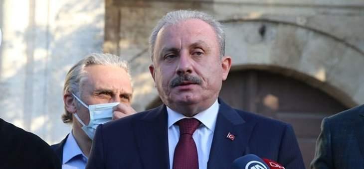رئيس البرلمان التركي: على العالم اتخاذ موقف مشترك ضد سياسات الاحتلال الإسرائيلية