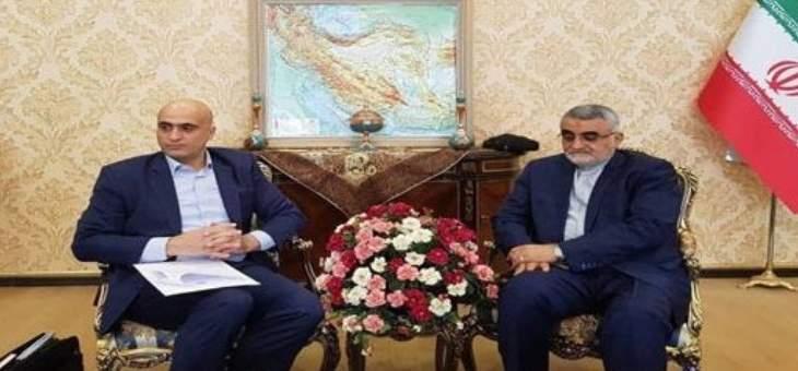 بروجردي جدد دعم إيران لسيادة سوريا ووحدتها ودعا لتعزيز التعاون بين البلدين