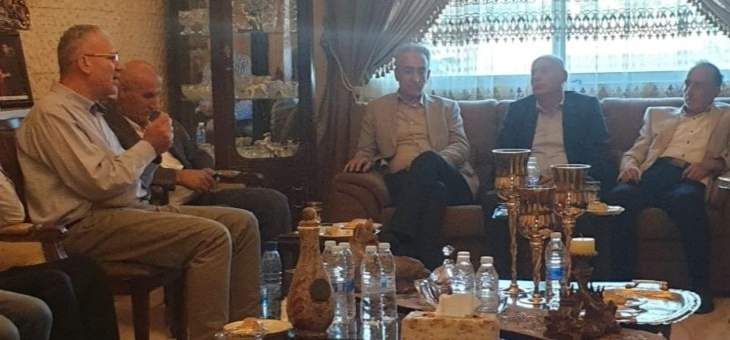 اللواء شمص التقى فاعليات لدية واختيارية واجتماعية من بعلبك