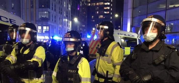 الشرطة البريطانية: اصابة شرطيين خلال أعمال عنف بعد احتجاج سلمي في بريستول