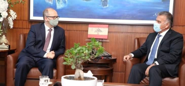 اللواء ابراهيم التقى سفير النمسا في زيارة تعارف