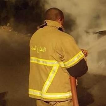 النشرة: إخماد حريق شب في احدى السيارات على مفرق الكرك في زحلة
