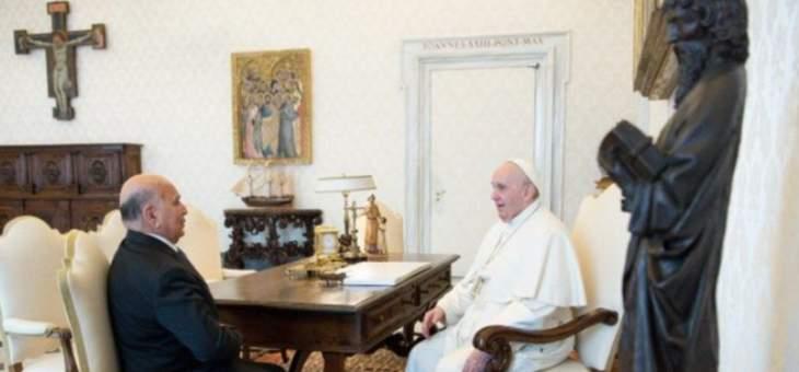 البابا فرنسيس التقى وزير الخارجية العراقي