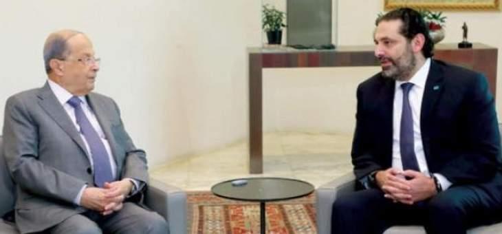 مصادر النشرة: الحريري تمنى على عون تأجيل الاستشارات أسبوعا لكن الأخير رفض
