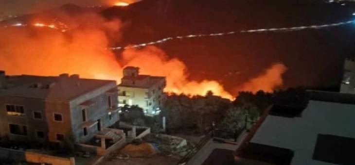 النيران لا تزال مندلعة في الدبية والمشرف وتحاصر عددا من المنازل