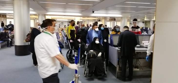 طائرتان عرقيتان أقلتا 261 عراقيا كانوا في لبنان بعد موافقة الحكومة على فتح الاجواء